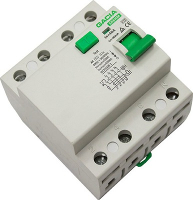 Prostredníctvom zvyškový prúd zariadenie 4P 40A 30mA AC GACIA