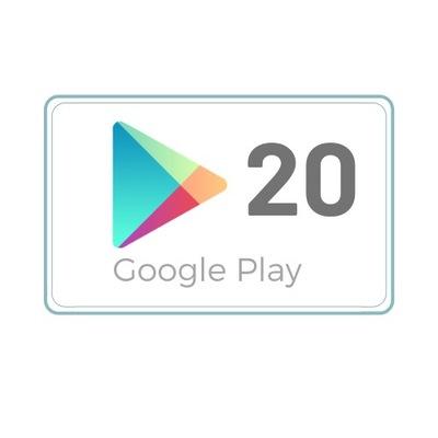 Google Play 20 zł Kod podarunkowy