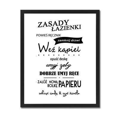 Plagát, obraz s nápismi v kúpeľni texty XXL