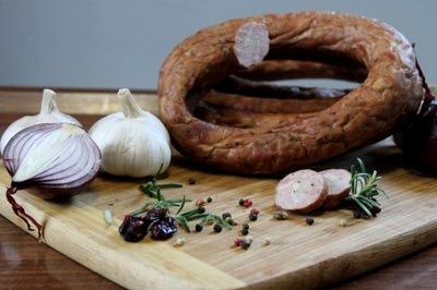 Колбаса Деревенская,100 % натуральная ,6h копченая ok0.5кг