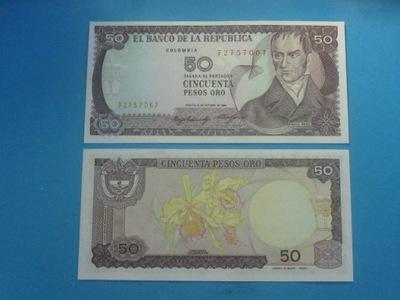 Колумбия Банкнота 50 Песо 1984 UNC P-425a