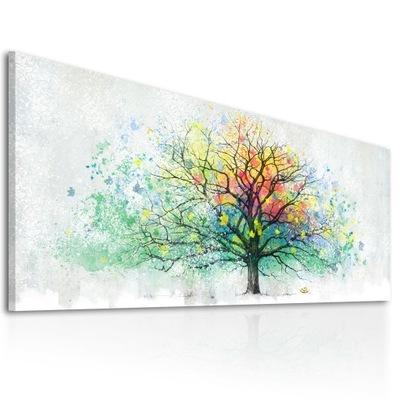 Картина на холсте Дерево Пейзаж 150x60cm