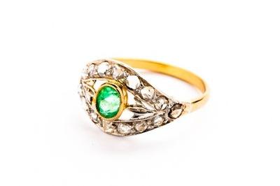 ИЗУМРУД  кольцо - 2 ,05g - БРИЛЛИАНТЫ