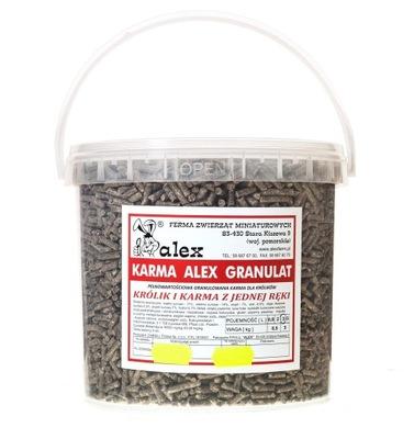 Алекс гранулы корм корм для кроликов / 3 литра