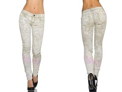 fadafc31 Spodnie rurki różowe sexy skinny 32 slim Bershka
