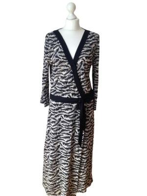 Sukienka Jedwabna Lato Kolorowa 100% Jedwab S 36