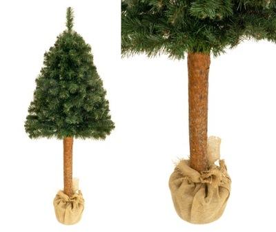 Vianočné stromčeky - Strom BOROVICA REÁLNE 160 CM na kmeň stromu