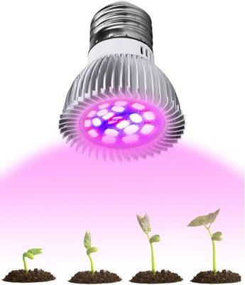 LAMPA 28xLED PRE PESTOVANIE RASTLÍN RAST IR, UV žiareniu, E27