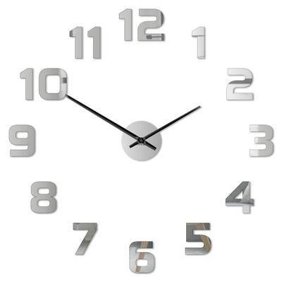 MODERNÉ nástenné hodiny TICHÝ naklejany! 3D