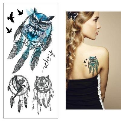 Tatuaż Tymczasowy łapacz Snów Wilk Dreamcatcatcher
