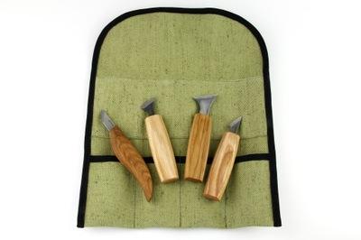 Zestaw do rzeźbienia w drewnie 4 noże BC S05