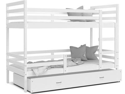 Poschodová posteľ pre deti JACEK farby + matrac