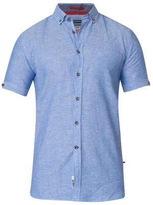 Duża koszula męska krótki rękaw LA MARDO krata 5XL