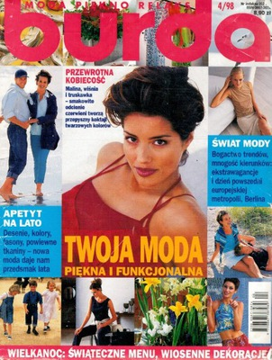 Burda moda piękno relaks 04/1998 z wykrojami