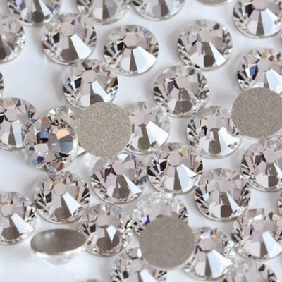 Cyrkonie szklane 1440 szt crystal SS16 + gratisy