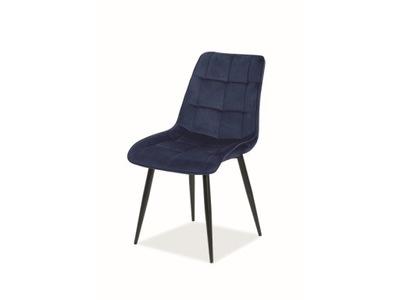 Krzesło CHIC Velvet różowe aksamitne Signal