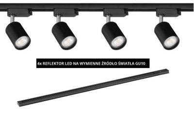 SADA 4 LAMPY NA VYMENITEĽNÉ ZDROJ+SZYNOPRZEWÓD 1,5 M