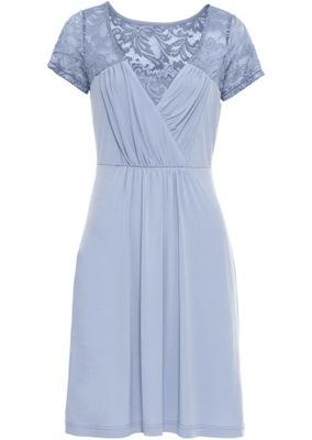 7180c2897c BONPRIX Sukienka z dżerseju z paskiem Rozm. 32 34 - 7297063748 ...
