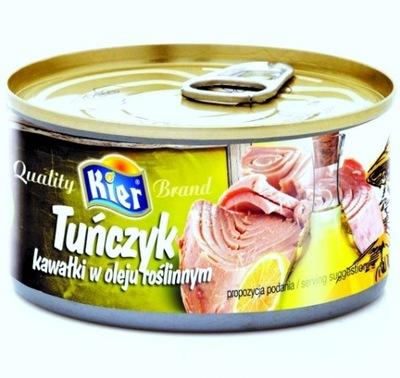 тунец в Растительном Масле Кусочки 170г Червей Qualit