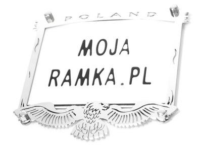 РАМКА ПОД REJESTRACJĘ NA МОТОЦИКЛА CHOPPER INOX!