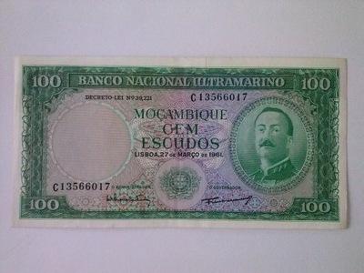 MOZAMBIK 100 ESCUDOS 1961 P109a (00-9)