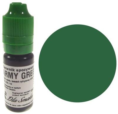 Пищевые красители в жидкости зеленый ARMY GREEN 20 мл