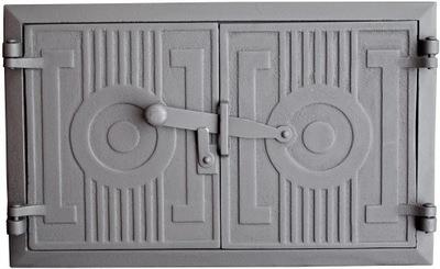 дверцы чугунные печи хлебные коптильня 43x27