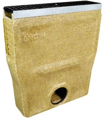 LINEÁRNE kanalizácie BOX C-250 H. 56,7 cmSZYNA