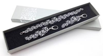 комплект украшения Swarovski элем . серебро кристаллы