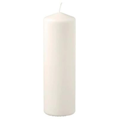 IKEA FENOMEN świeca bryłowa, naturalny, 25 cm