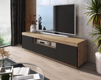 Тумба RTV столик, ТВ ЙОШИ wotan/Черный ??? 170 см