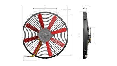 Вентилятор осевой 350 мм 12V всасывающий VA08-AP51/LL-23А