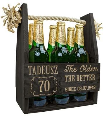 коробка ПЕРЕНОСКУ НА пиво с гравировкой НА день рождения