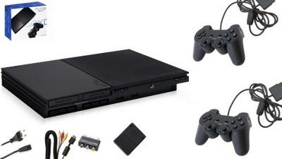 Sony PlayStation 2 Slim + 2 PADY + KARTA + GRY
