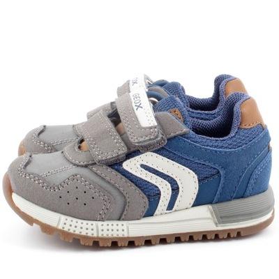 GEOX ALBEN B943CA QAZ szare sneakersy rozm 21