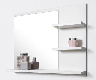 Большие белое зеркало 3 полками для Вашей ванной комнаты