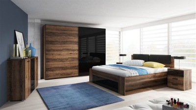 комплект мебели ??? спальни кровать шкаф два столика
