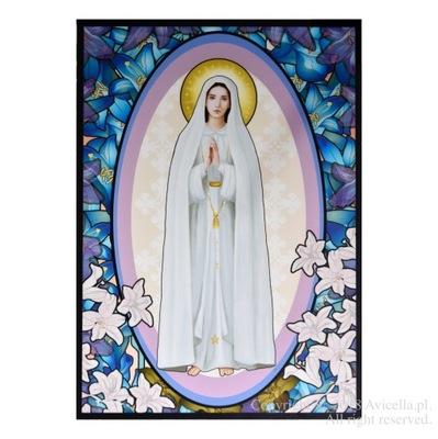 Мария среди синих цветов instagram на окно