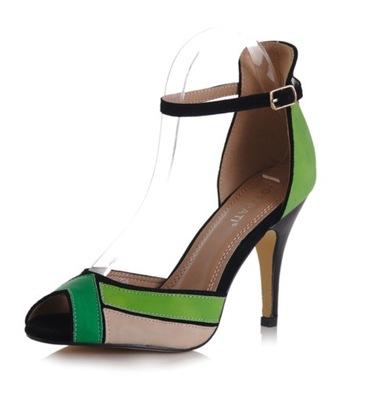 4a9cf3c9 Beżowe szpilki damskie, sandały SABATINA 1442 r40 - 7491902421 ...