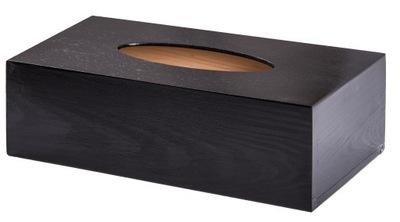салфетница деревянный Черный коробка Салфетки