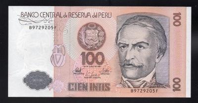 Перу 100 INTIS P-133 UNC 1987