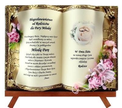 acef56837ea8ce Pamiątka Ślub prezent prezenty życzenia ślubne CUD 7283511909 ...