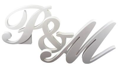 Nastavenie 3D písmená biela, stála 30 cm) Dodanie zdarma