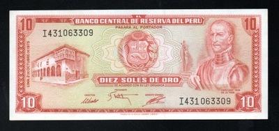 Перу 10 SOLES DE ORO P-106 1975 UNC