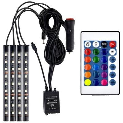 OŚWIETLENIE WNĘTRZA AUTA kabiny samochodu LED RGB