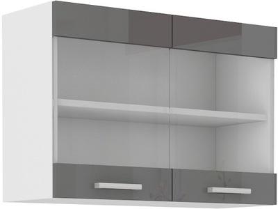 Куба шкаф кухонная 2 -двери верхняя витрина 80cm
