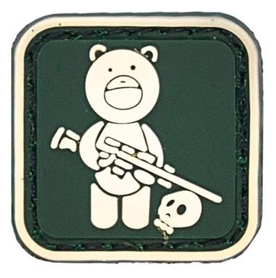 МИШКА винтовка наклейка на липучка ??? моральный дух patch