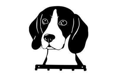 вешалка на поводки, игрушки ключи Собака БИГЛЬ