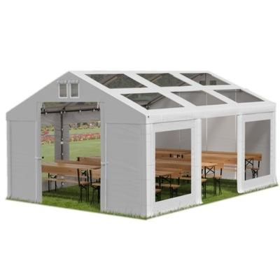 4x6m 2-3,15 m Stan záhradný pavilón transparentné