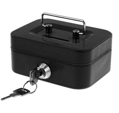 контейнер для денег Сейф копилка черная